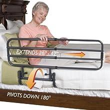 NRS Healthcare Standers EZ - Sponda per letto regolabile