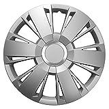 14 Zoll Radzierblenden SPORTIVO SILVER (Silber mit Chromring). Radkappen passend für fast alle OPEL wie z.B. Corsa D