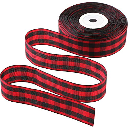50 Yards Gingham Band Breites Band TAFT Plaid Ribbon (Farbe 2, 1 Zoll Breit)