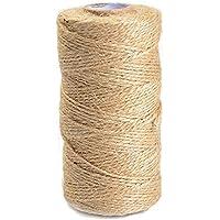 ATPWONZ Natural Yute cuerda de cáñamo enrollado 90m -100m ideal para regalos, boda, jarrones, libros y otra decoración del arte