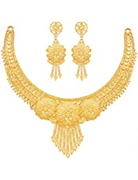 Mansiyaorange Party One Gram Gold Forming Premium Choker Golden Jewellery Necklace/Juelry/jwelry Set Jewellery for Women
