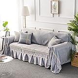 D&LE Europäischer Stil Sofa Überwurf,Wohnzimmer Kombination Sofa Einfache Moderne Sofa Abdeckung Aus Stoff Vier Jahreszeiten Austauschbare Sofaüberwurf-B 200x350cm(79x138inch)