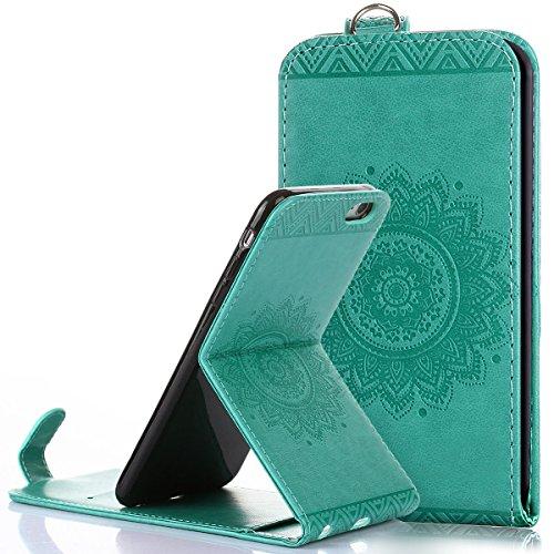 Custodia iPhone 6/6S plus,Ukayfe Flip Cover Case Custodia per iPhone 6/6S plus in pelle PU,iPhone 6/6S plus Lussuosa Astuccio Custodia Cover [PU Leather] [Shock-Absorption] Protettiva Portafoglio Cove Verde