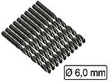 10 Stück HSS-Bohrer Metall Durchmesser 6 mm