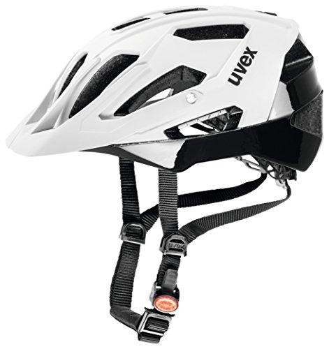 Uvex Quatro Casco de ciclismo, Unisex adulto, Blanco / Negro, 56-61 cm