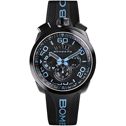 Bomberg Men's Bolt 68 45mm Silicone Band Swiss Quartz Watch 45CHPBA.030.3