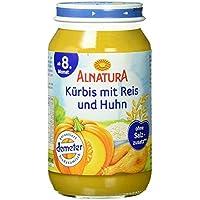 Alnatura Demeter Bio Kürbis-Reis-Huhn, glutenfrei, 6er Pack (6 x 220 g)
