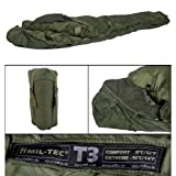 Tactical Thermolite Sleeping Bag Temperature Rated in Olive Green (T3 (-10°C))