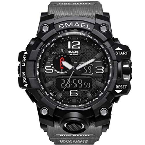 Blisfille Uhren Männer Wasserdicht Wasserdicht Herrenuhr Partner Armbanduhr Multifunktional Schwarz Grau Outdoor Sportuhr Armbanduhr Automatikuhr