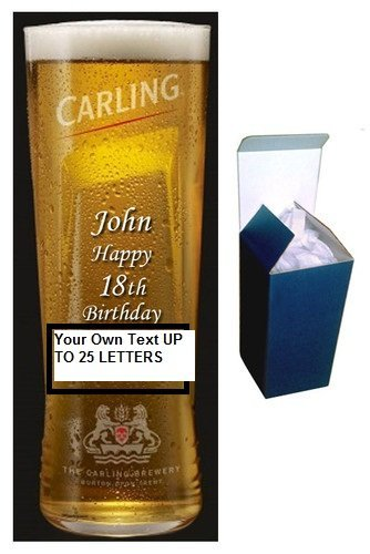 carling-pint-glass-personalised-with-your-own-message-upto-25-letters-in-gift-box-gift-paper-by-trop