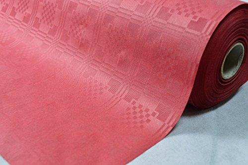 50 Meter Lang 100 Cm Breit Farbe: Bordeaux Tischdecke Papier Damastprägung Tischtuch...