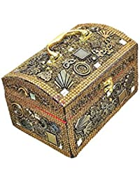 Handmade Rajasthani Style Golden Jewellery Box/Jewellery Organizer/Vanity Box/Vanity Case/Cosmetic Box/Cosmetic...