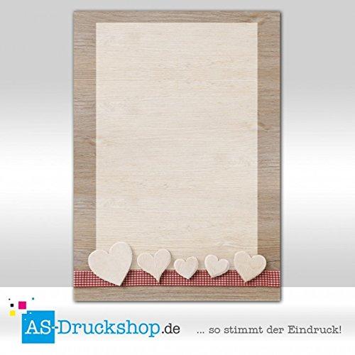Designpapier Valentinstag - Liebe - Herzsammlung/25 Blatt/DIN A4/90 g-Offsetpapier