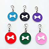 Sri Round Shape Printed Bone Collar Tag Cum Collar Charm For Dogs , Puppy ,Kitten, Cats - Colour May Vary