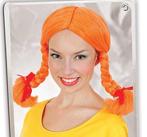 Pfefferminz Kostüm - Perücke Göre orange