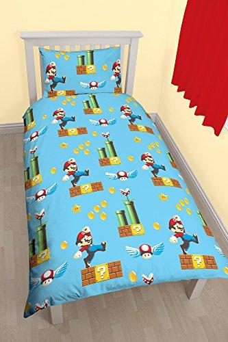 prezzo Nintendo Set comprensivo di copripiumino singolo con motivo Mario MakerRotary, in poliestere, multicolore