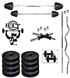 #9: BFIT 30KG GYM KIT SET 5KG x 4 + 2.5KG X 4 + 2 ROD OF 14 INCHES + 1 ROD OF 3 FT STRAIGHT + 1 ROD OF 3 FT CURL