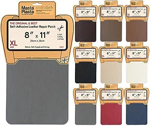 MastaPlasta Self-Adhesive Leather Repair Patch. New XL 28cmx20cm. Choose colour. First-aid for sofas, car seats. (Pelle Italiana Del Sofà)