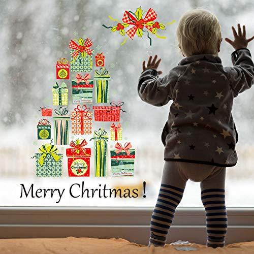 Sosost Weihnachtsdekoration, Türdekoration, Frohe Weihnacht-Geschenk Kreative Wand-Aufkleber, 3D-Umweltschutz PVC-Material, Wohnzimmer/Schlafzimmer/Fensterglasdekoration Aufkleber