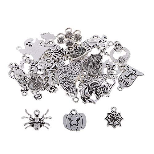 Halloween Charms Anhänger Schlüssel Anhänger Charms Schmuck Deko für DIY Halsketten, Armbänder, ()