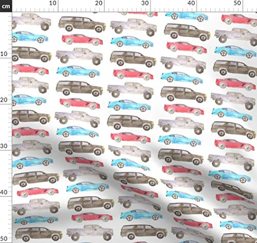 Autos, Lkws, Rennen Stoffe - Individuell Bedruckt von Spoonflower - Design von Erinanne Gedruckt auf Leichter Baumwoll Twill - Rennen-auto-vorhänge