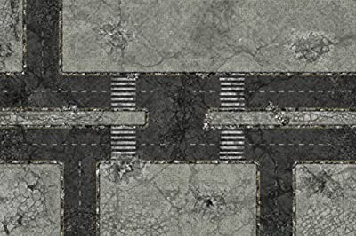 Terrain PVC Tabletop War Gaming Mat 6'x4' Urban Fight