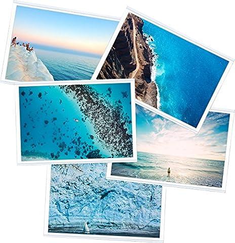 Lot de 5 pochettes aimantées pour photo standard. Idéal pour afficher et protéger vos photographies sur votre frigo ou autre surface magnétiques.