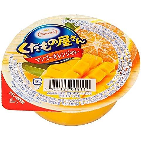 Tarami negozio di frutta pezzi arancione mango gelatina 160gX6