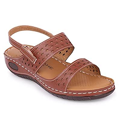 YAHE Women's Casual Doctor Sole Orthopaedic Comfortable Sandals Y-508