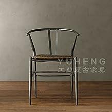 American vintage ferro battuto sedia da pranzo computer di ufficio Sedie in legno massiccio sgabelli bar barra di metallo sedia poltrona,Bronzo