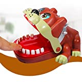 Prevently Brand New Funny 18CM Creative Vivid Color Lucky Bulldog Dentist Game Classic Biting Hand Party Game For Family (A)