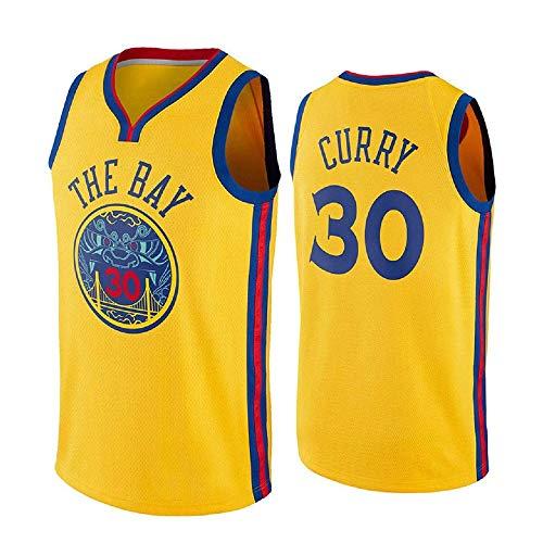 ZAIYI-Jersey Herren Basketball Trikot Stephen Curry # 30 NBA Golden State Warriors - New Stoff Bestickt Swingman Jersey Ärmelloses Shirt (Color : G, Size : S) (Stephen Curry Swingman Jersey)