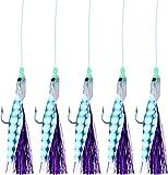Storfisk fishing & more Makrelenpaternoster Meeresköder System mit 5 Armen Lila Haare Leuchtperlen...