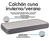 Colchon espuma 117x57 cm Alta densidad Dos Caras Invierno-Verano Transpirable Desenfundable Fabricado en España Varias Medidas (117x57 cm)