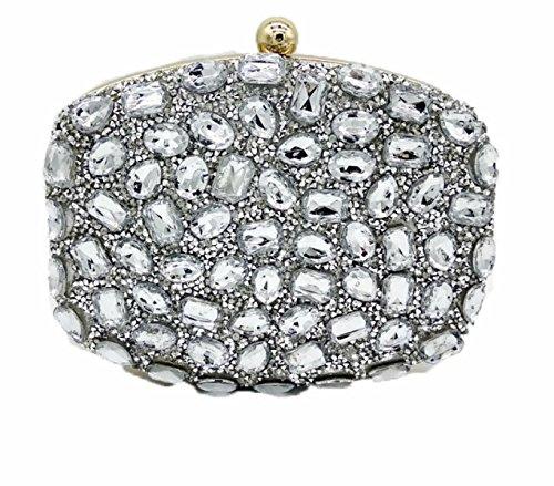 Nuove Signore Borse Signore Diamanti Borse Colore Strass Foratura A Caldo Borse Da Sera Mini Banchetto Borse Silver
