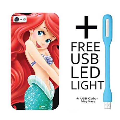 Hamee Disney Princess Official Licensed – Designer Case Cover Hard Back Case for iPhone 5 / 5S / SE / 5SE with Free LED – Design 16