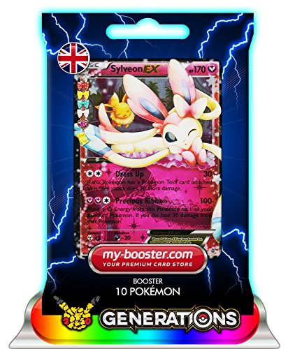SYLVEON EX (Nymphali) RC21/RC32 170HP XY Generations - Booster de 10 cartes Pokemon anglaises my-booster