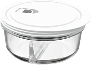 Treo By Milton Borosilicate Round Partition Container, 370 Ml, 1 Pc, Transparent