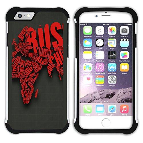 Graphic4You Carlino Guitar Art Case Design Hart + Weiche Kratzfeste Hülle Case Schale Tasche Schutzhülle für Apple iPhone 6 / 6S Design #7