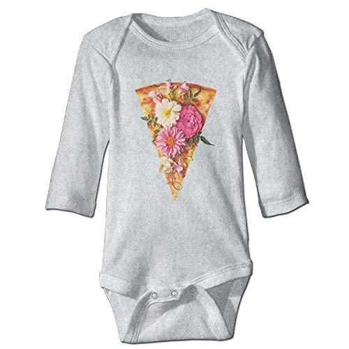 SDGSS Babybekleidung Flower Pizza Girls Baby Long-Sleeve Bodysuit Cute