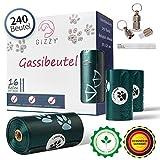 GIZZY® Premium Hundekotbeutel Biologisch Abbaubar inkl. Gratis Adressanhänger I 240 Kotbeutel für Hunde