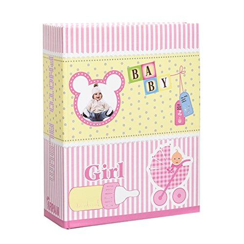 arpan-6x4-15x10cm-bebe-fille-rose-feuille-album-de-stockage-pour-dalbum-pour-100-photos