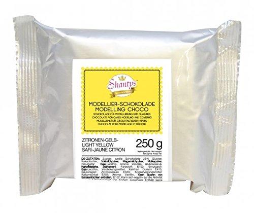 okolade - GELB 250 g - Schokolade, Modelliermasse - Shantys (Gelbe Schokolade)