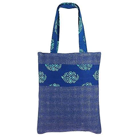 Polyvalent Mini Sac de shopping, de couleur jute, de fibres naturelles Eco-frienly, non tissé doublure intérieure, Easy Care lavable,
