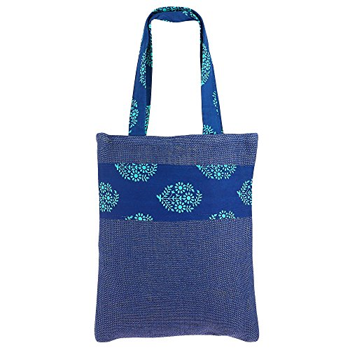 ShalinIndia Unisex Natural Fiber-Eco Frienly Mini Shopping Bag with Non Woven Lining Inside (Jute colour)