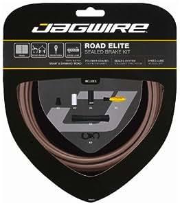 Jagwire Road Elite Sealed Brake Frozen Coffee Kit de câble de frein étanche Marron Mat