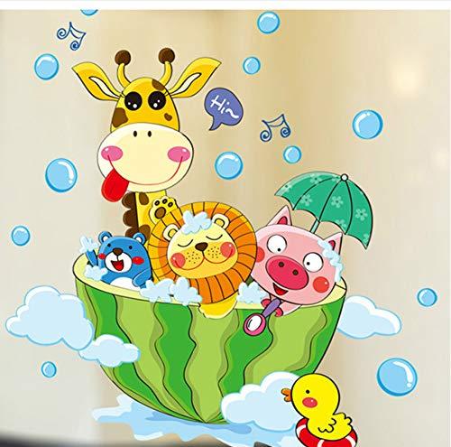 zwyluck Wandaufkleber DIY Cartoon Tiere im bad Wandaufkleber für kinder baby zimmer badezimmer dekoration Aufkleber tapete dusche wandaufkleber 20 * 30 cm -