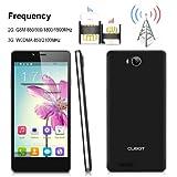 CUBOT S208 Schwarz 5.0 Zoll IPS-Bildschirm OGS 3G Android 4.2 MTK6582 Quad Core Handy Dual SIM Dual Standby 1G RAM 16G ROM Smartphone OTG WIFI GPS Handy(Schwarz)