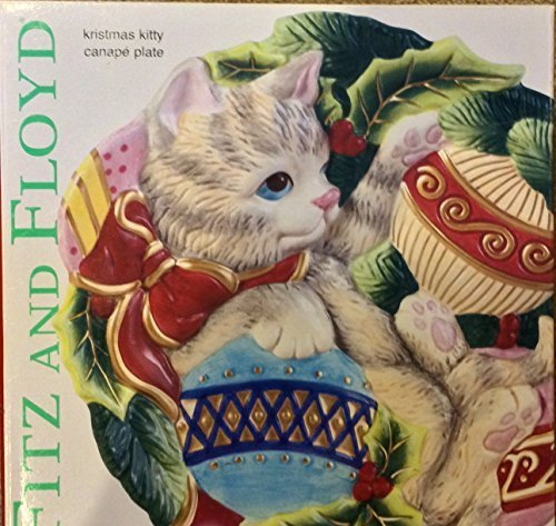 Fitz and Floyd Kristmas Kitty Canape Plate by Fitz and Floyd Floyd Kitty