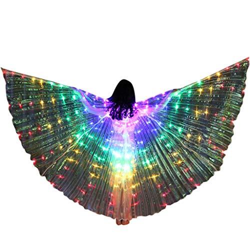 Auiyut Schmetterling Kostüm Damen Festival Regenbogen Schmetterlingsflügel Fun-Bekleidung FaschingkostüMe Umhang Poncho Wings Kostüm-Zubehör Butterfly (B-A, FREIEGRÖSSE)